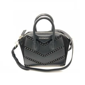 Chevron Antigona Mini Studded Leather Shoulder Bag
